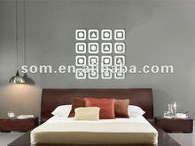 2012 decorative Acrylic 3d wall deco