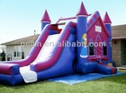 2013 hot sale inflatable bounce castle, bounce and slide combo
