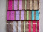 polyester stripe velvet fabric for sofa curtain cushion home textile fabric