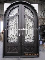 Residential luxury exterior commerical metal french security doors