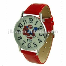 red cheap advertising wrist watch with customer's logo