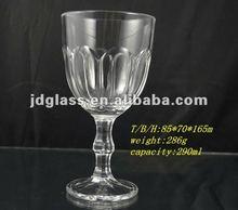 machine made lotus flower clear glass stem goblet