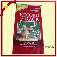 2014 pp woven laminated packing animal feed bag/animal feed plastic bags/big animal feed bag