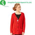 ladies long cardigan knitting patterns red cashmere women cardigan