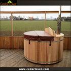 Outdoor cedar barrel eco friendly hot tub