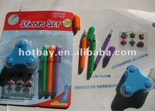 3 colors pen and stamper set