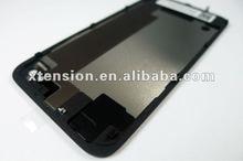 Black Glass Battery Housing Back Cover W/ Frame Repair Kit for iPhone 4S