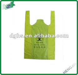 oxo-biodegradable yellow waste bag