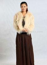 2012 New Design Women Knitted Raccoon Dog Fur and Rex Rabbit Fur Coat