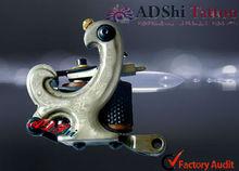 Professional Handmade Damascus Grey Chicken Design Tattoo Gun for Shader