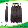 El precio de fábrica de mongolia cabello humano a granel, qaulity superior grado 5a