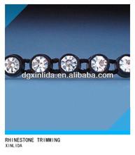 1*174 crystal rhinestone plastic banding trimming
