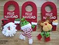 santa schneemann rentier weihnachten tür dekoration