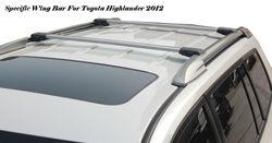 Crossbar Whispbar Toyota Highlander Roof Rack
