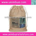 nature jute burlap drawstring gift bag with clear pvc window