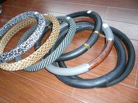 Universal fashinal design velvet steering wheel cover car steering wheel cover