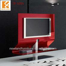 Newland modern hot bending glass lcd tv floor stand (TV-S35A)