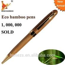 Logo engraved promotional bamboo ballpoint pen 1000pcs free shipping