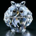 transparente pequeno cristal coruja figurinhas para presentes do negócio