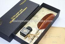 natural feather dip pen,feather fountain pen