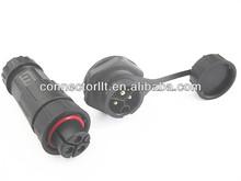 3 pin male panel socket female plug waterproof connector