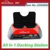 Multi Card Reader U35HD03 Plastic Case 2 USB Hub SATA HDD All In One USB 2.0 Docking Station