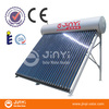 150L Fluorine Carbon Steel Integrative Pressure Heat Pipe Vacuum Tube Solar Hot Water System With 18 Tubes
