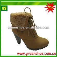 Fashion Women Warm Winter Snow High Heel Boot