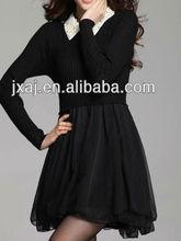 Women's new chest chaining bud silk pattern long sleeve ladies' sweaters