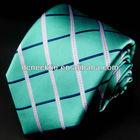 fashion plaid high quality silk woven tie