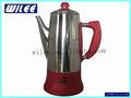 12 bardak kahve makinesi paslanmaz çelik renkli