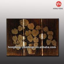 2013 Handmade Gold/Silver Foil Leaf Group Oil Painting MJHF-13082601