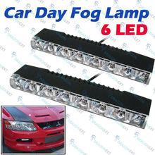 White 6 LED Light Universal Car Aux Day Fog Driving Lamp