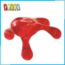 Promotional Red or green color Hand-held Plastic Massager