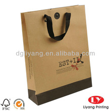 New design apparel packaging bag /paper shopping bag printing
