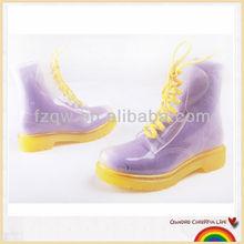 Transparent fashionable waterproof PVC rain boots