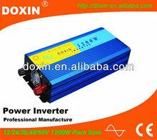 12V dc to 220V ac pure sine wave inverter 1200 watt