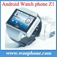 Z1 Android Watch Phone Android 2.2 GPS MTK6516 WiFi Camera 2.0 Inch Capacitive Touch Screen