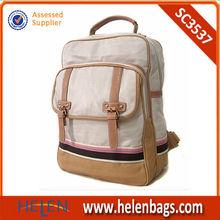 Canada canvas tote schoolbags young ladies