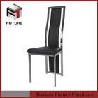 modern furniture,PU leahter and chrome legs sex high back dining room chair