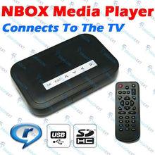NBOX USB AV TV RM RMVB MP3 Divx SD Card Media Player