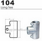 malleable iron pipe connection tee