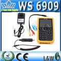 Nenhum imposto de costume, dvb-s dvb-t digital de sinal de satélite finder medidor combo lcd ws6909 satlink ws-6909