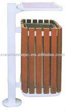 Wood plastic composite dustbin