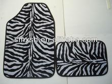 universal fashionable zebra car mat carpet&PVC car floor mat set