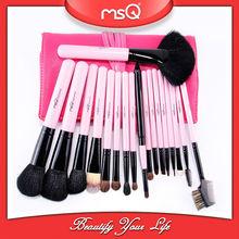 MSQ Hot sale 18pcs pink makeup brushes