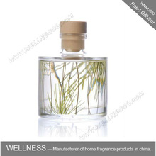 200ml reed diffuser glass bottle with wooden cap