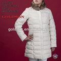 De lujo para mujer blancolarga capa de abajo, fábrica de prendas de vestir