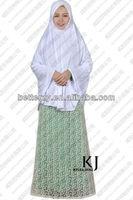 2014 KJ-WAB8015 new designs chiffon satin dubai kaftan whole sale