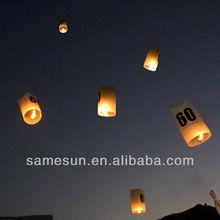 Escrow cylinder sky lantern for holidays